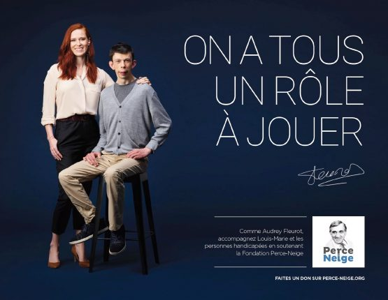 Campagne publicitaire pour l'Association Perce-Neige avec Audrey Fleurot