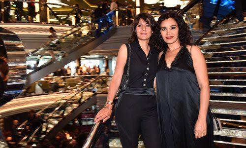 Inauguration Paquebot MSC Croisière avec Estelle Denis et Aida Touihiri - Placement de personnalités